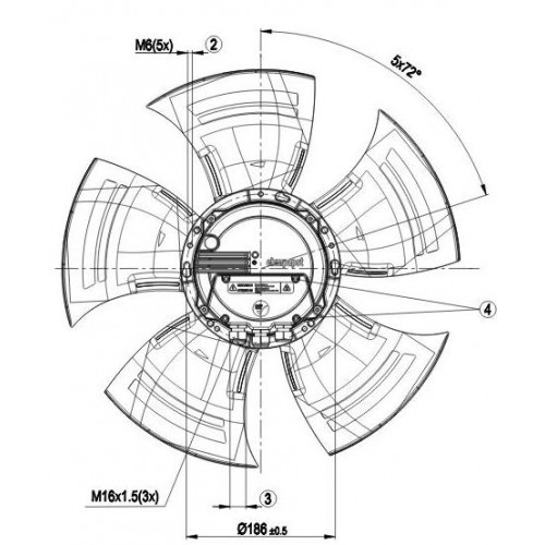 Axial Fan A3g500 Am56 35