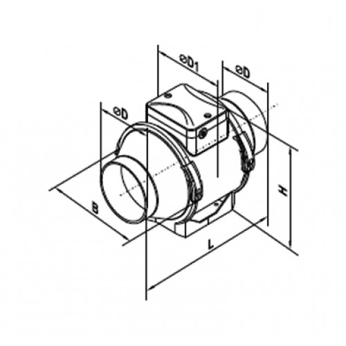 100 Axial Fan For Round Ducts