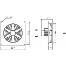 Axial Fan Wall EXWFN 6-710T