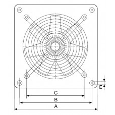 HCFT/4-250/H 0.06kW Compact axial fan