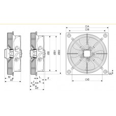 Axial Fan HXTR/4-250